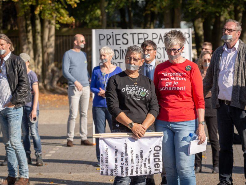 Stil protest voor terrein Jehova's Getuigen