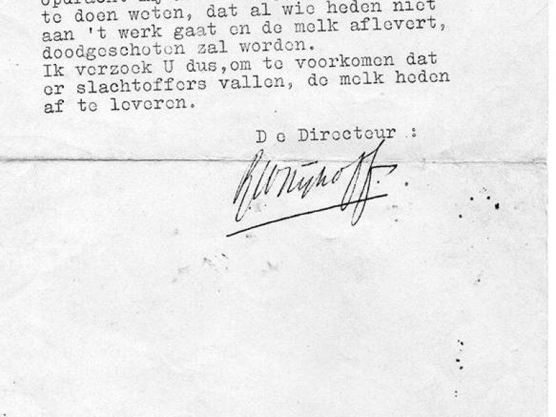 1943: doodsbedreiging aan boeren in Noordbarge