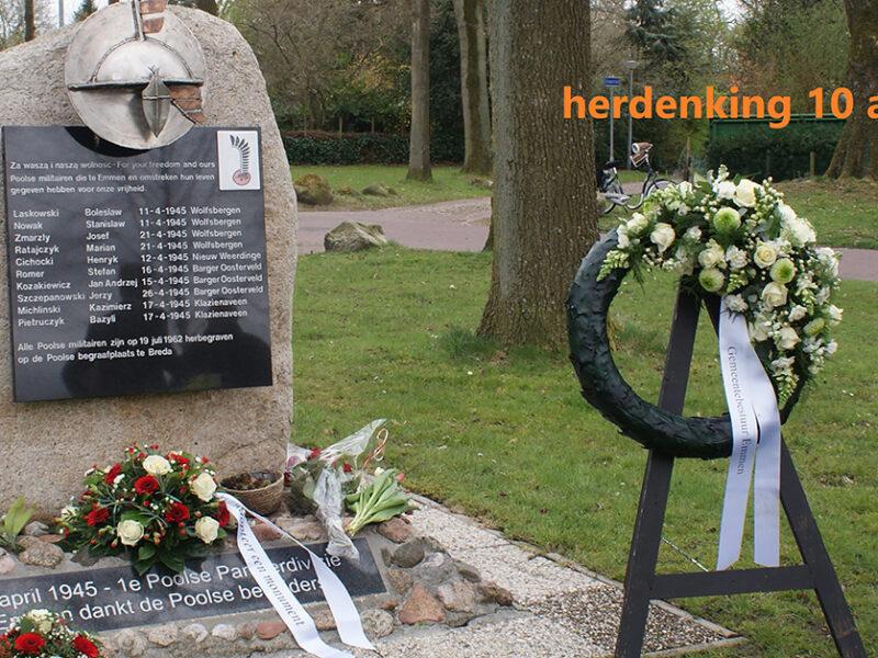 Herdenking 76 jaar bevrijding Emmen